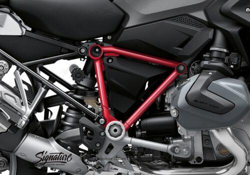 BFS 3342 BMW R1250GS 2019 Black Storm Metallic Pyramid Frame Wrap Styling Kit Red 02