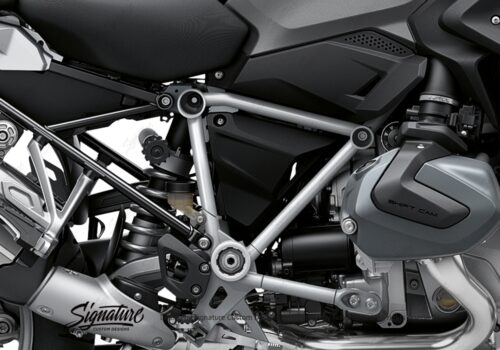 BFS 3342 BMW R1250GS 2019 Black Storm Metallic Pyramid Frame Wrap Styling Kit Silver 02