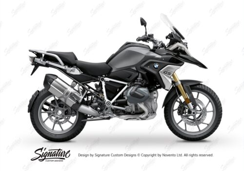 BFS 3342 BMW R1250GS 2019 Black Storm Metallic Pyramid Frame Wrap Styling Kit White 01