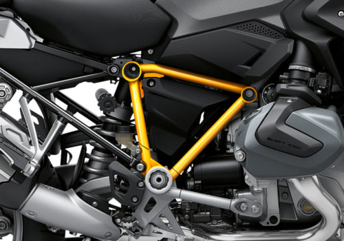 BFS 3342 BMW R1250GS 2019 Black Storm Metallic Pyramid Frame Wrap Styling Kit Yellow 02