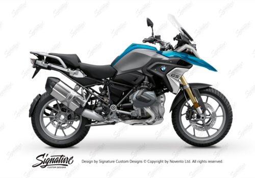 BFS 3343 BMW R1250GS 2019 Cosmic Blue Pyramid Frame Wrap Styling Kit Black 01