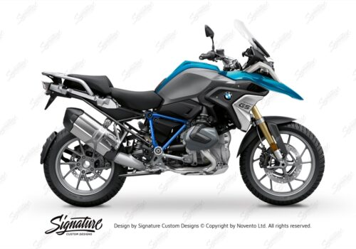 BFS 3343 BMW R1250GS 2019 Cosmic Blue Pyramid Frame Wrap Styling Kit Cobalt Blue 01