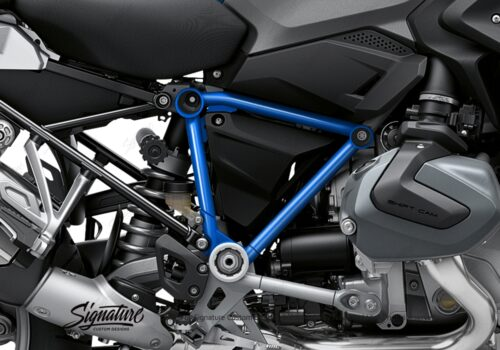 BFS 3343 BMW R1250GS 2019 Cosmic Blue Pyramid Frame Wrap Styling Kit Cobalt Blue 02