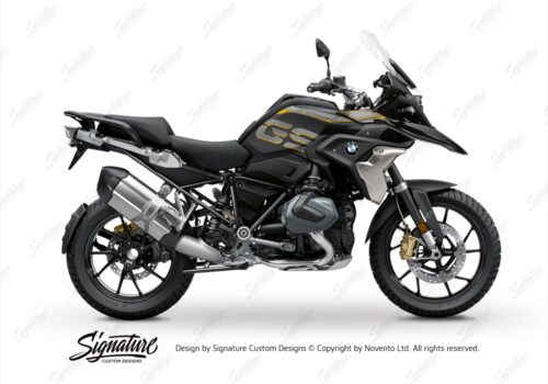 BFS 3344 BMW R1250GS 2019 Style Exclusive Pyramid Frame Wrap Styling Kit Black 01