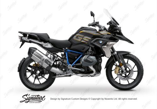 BFS 3344 BMW R1250GS 2019 Style Exclusive Pyramid Frame Wrap Styling Kit Cobalt Blue 01