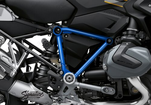 BFS 3344 BMW R1250GS 2019 Style Exclusive Pyramid Frame Wrap Styling Kit Cobalt Blue 02