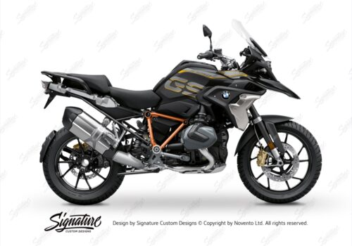 BFS 3344 BMW R1250GS 2019 Style Exclusive Pyramid Frame Wrap Styling Kit Orange 01