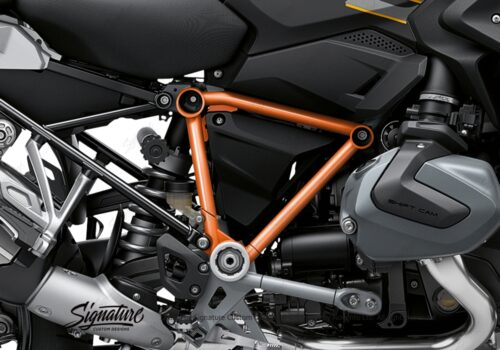 BFS 3344 BMW R1250GS 2019 Style Exclusive Pyramid Frame Wrap Styling Kit Orange 02