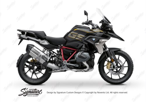 BFS 3344 BMW R1250GS 2019 Style Exclusive Pyramid Frame Wrap Styling Kit Red 01