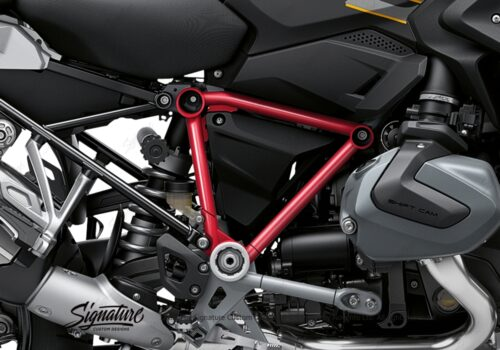 BFS 3344 BMW R1250GS 2019 Style Exclusive Pyramid Frame Wrap Styling Kit Red 02