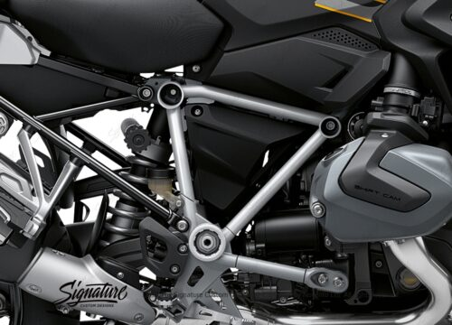 BFS 3344 BMW R1250GS 2019 Style Exclusive Pyramid Frame Wrap Styling Kit Silver 02