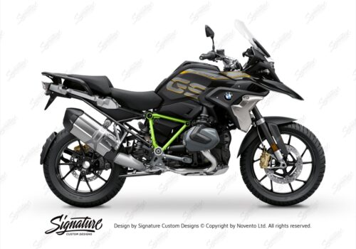 BFS 3344 BMW R1250GS 2019 Style Exclusive Pyramid Frame Wrap Styling Kit Toxic Green 01