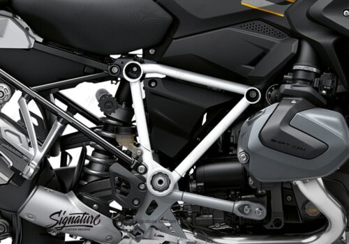 BFS 3344 BMW R1250GS 2019 Style Exclusive Pyramid Frame Wrap Styling Kit White 02