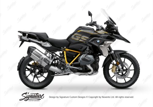BFS 3344 BMW R1250GS 2019 Style Exclusive Pyramid Frame Wrap Styling Kit Yellow 01