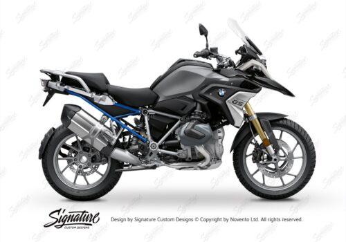 BFS 3347 BMW R1250GS 2019 Black Storm Metallic Subframe Wrap Styling Kit Cobalt Blue 01