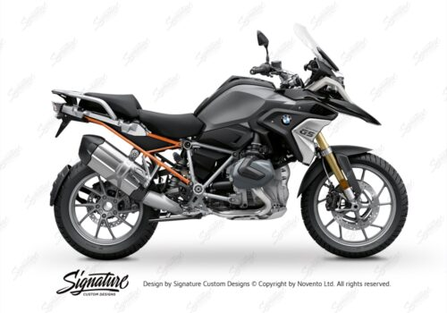BFS 3347 BMW R1250GS 2019 Black Storm Metallic Subframe Wrap Styling Kit Orange 01