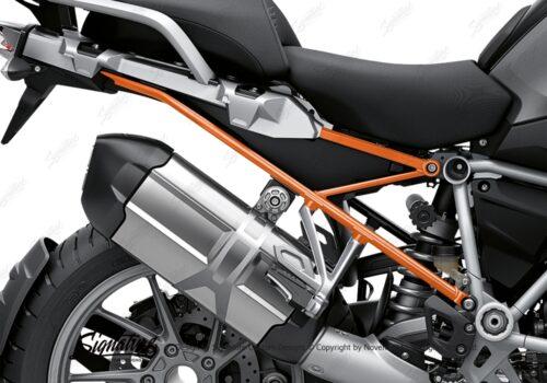 BFS 3347 BMW R1250GS 2019 Black Storm Metallic Subframe Wrap Styling Kit Orange 02