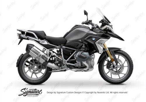 BFS 3347 BMW R1250GS 2019 Black Storm Metallic Subframe Wrap Styling Kit Silver 01