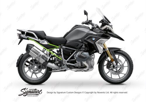 BFS 3347 BMW R1250GS 2019 Black Storm Metallic Subframe Wrap Styling Kit Toxic Green 01