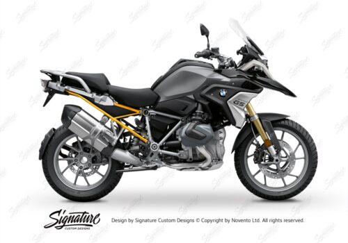 BFS 3347 BMW R1250GS 2019 Black Storm Metallic Subframe Wrap Styling Kit Yellow 01