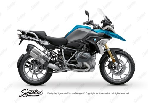 BFS 3348 BMW R1250GS 2019 Cosmic Blue Subframe Wrap Styling Kit Black 01