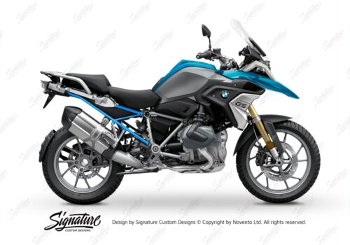 BFS 3348 BMW R1250GS 2019 Cosmic Blue Subframe Wrap Styling Kit Light Blue 01