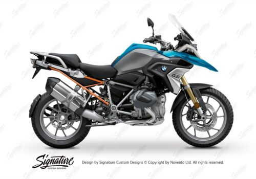 BFS 3348 BMW R1250GS 2019 Cosmic Blue Subframe Wrap Styling Kit Orange 01