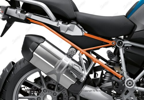 BFS 3348 BMW R1250GS 2019 Cosmic Blue Subframe Wrap Styling Kit Orange 02