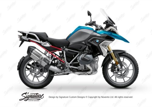 BFS 3348 BMW R1250GS 2019 Cosmic Blue Subframe Wrap Styling Kit Red 01