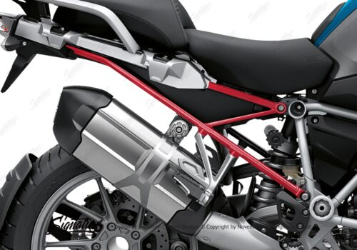 BFS 3348 BMW R1250GS 2019 Cosmic Blue Subframe Wrap Styling Kit Red 02