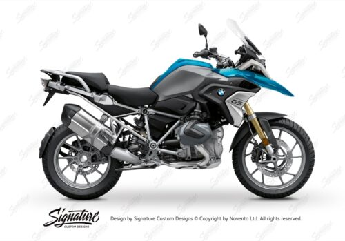 BFS 3348 BMW R1250GS 2019 Cosmic Blue Subframe Wrap Styling Kit Silver 01
