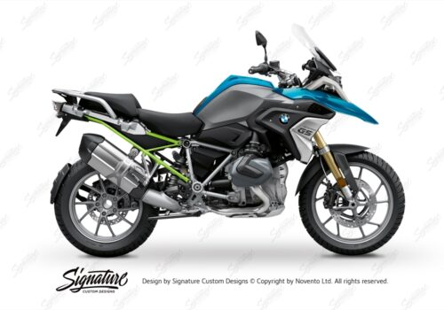 BFS 3348 BMW R1250GS 2019 Cosmic Blue Subframe Wrap Styling Kit Toxic Green 01