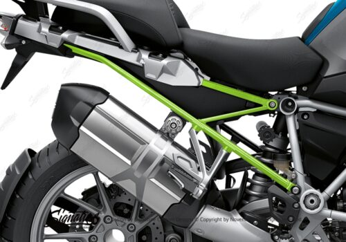 BFS 3348 BMW R1250GS 2019 Cosmic Blue Subframe Wrap Styling Kit Toxic Green 02