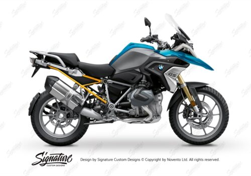 BFS 3348 BMW R1250GS 2019 Cosmic Blue Subframe Wrap Styling Kit Yellow 01