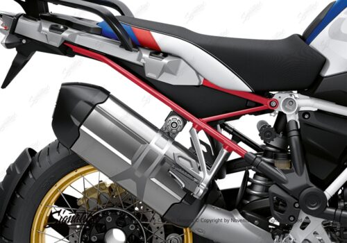 BFS 3350 BMW R1250GS 2019 Style HP Subframe Wrap Styling Kit Red 02