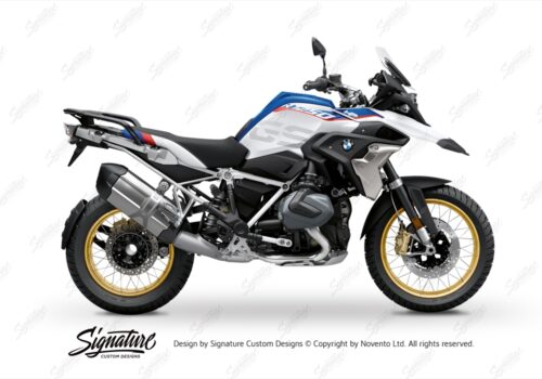 BFS 3350 BMW R1250GS 2019 Style HP Subframe Wrap Styling Kit Silver 01