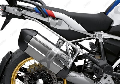 BFS 3350 BMW R1250GS 2019 Style HP Subframe Wrap Styling Kit Silver 02