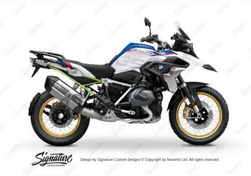 BFS 3350 BMW R1250GS 2019 Style HP Subframe Wrap Styling Kit Toxic Green 01