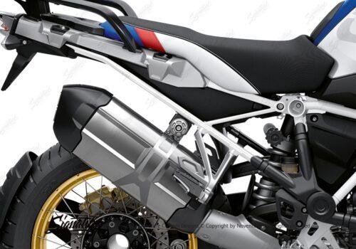 BFS 3350 BMW R1250GS 2019 Style HP Subframe Wrap Styling Kit White 02