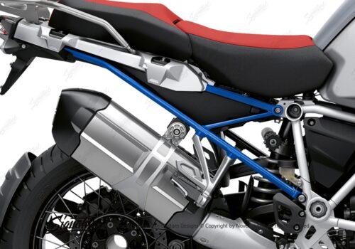 BFS 3351 BMW R1250GS Adventure 2019 Ice Grey Subframe Wrap Styling Kit Cobalt Blue 02