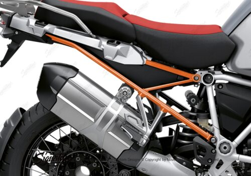 BFS 3351 BMW R1250GS Adventure 2019 Ice Grey Subframe Wrap Styling Kit Orange 02