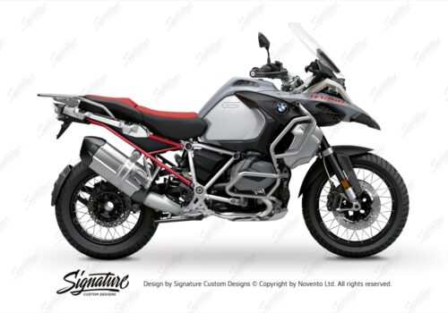 BFS 3351 BMW R1250GS Adventure 2019 Ice Grey Subframe Wrap Styling Kit Red 01