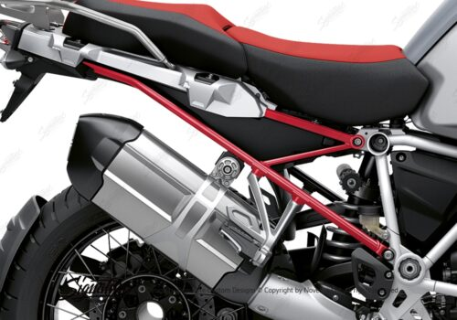 BFS 3351 BMW R1250GS Adventure 2019 Ice Grey Subframe Wrap Styling Kit Red 02