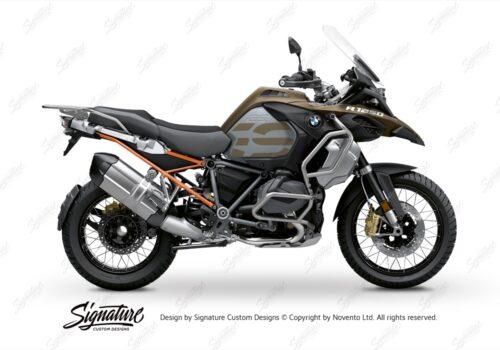 BFS 3352 BMW R1250GS Adventure 2019 Style Exclusive Subframe Wrap Styling Kit Orange 01