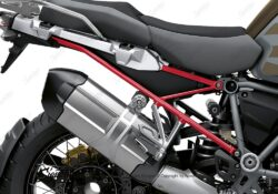 BFS 3352 BMW R1250GS Adventure 2019 Style Exclusive Subframe Wrap Styling Kit Red 02