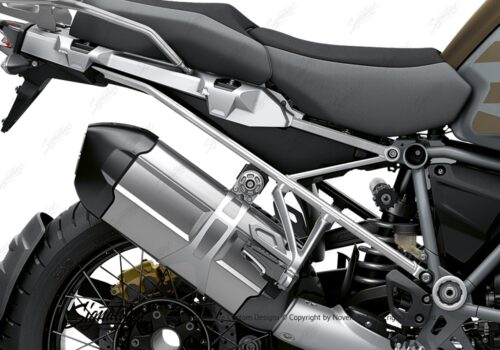BFS 3352 BMW R1250GS Adventure 2019 Style Exclusive Subframe Wrap Styling Kit Silver 02