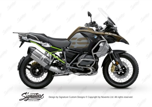 BFS 3352 BMW R1250GS Adventure 2019 Style Exclusive Subframe Wrap Styling Kit Toxic Green 01