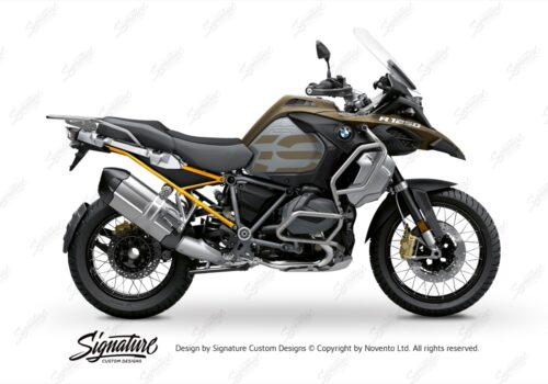 BFS 3352 BMW R1250GS Adventure 2019 Style Exclusive Subframe Wrap Styling Kit Yellow 01