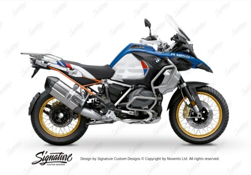 BFS 3353 BMW R1250GS Adventure 2019 Style HP Lupine Blue Subframe Wrap Styling Kit Orange 01