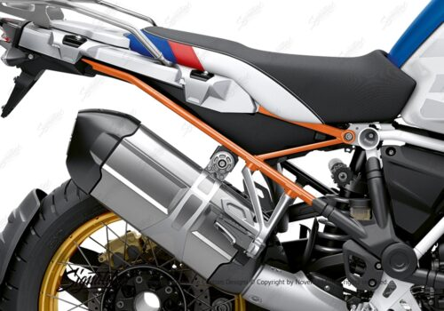BFS 3353 BMW R1250GS Adventure 2019 Style HP Lupine Blue Subframe Wrap Styling Kit Orange 02